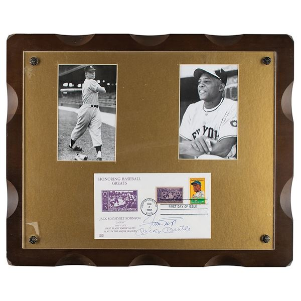 Mickey Mantle and Willie Mays Signed FDC