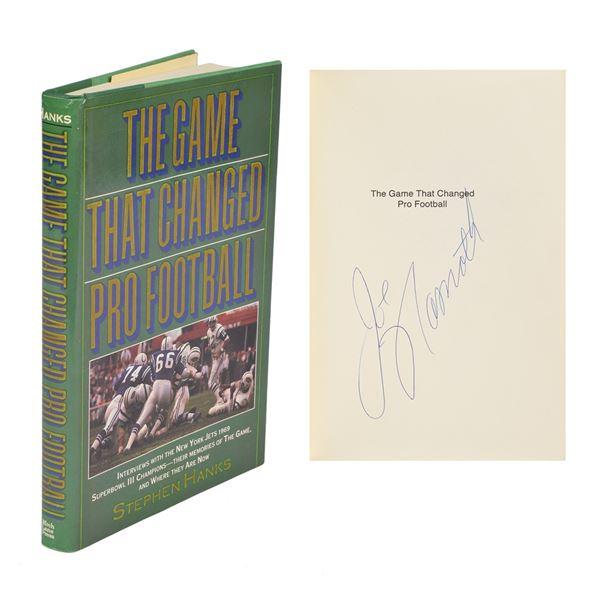 Joe Namath Signed Book