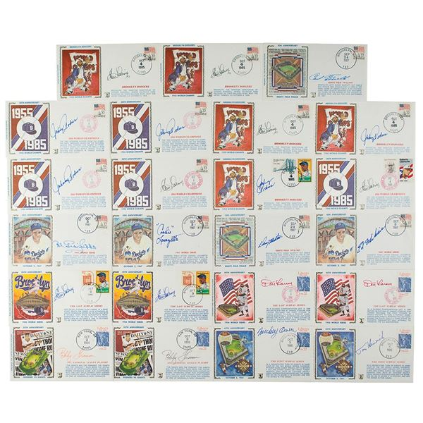 New York Baseball Heroes (23) Signed Covers