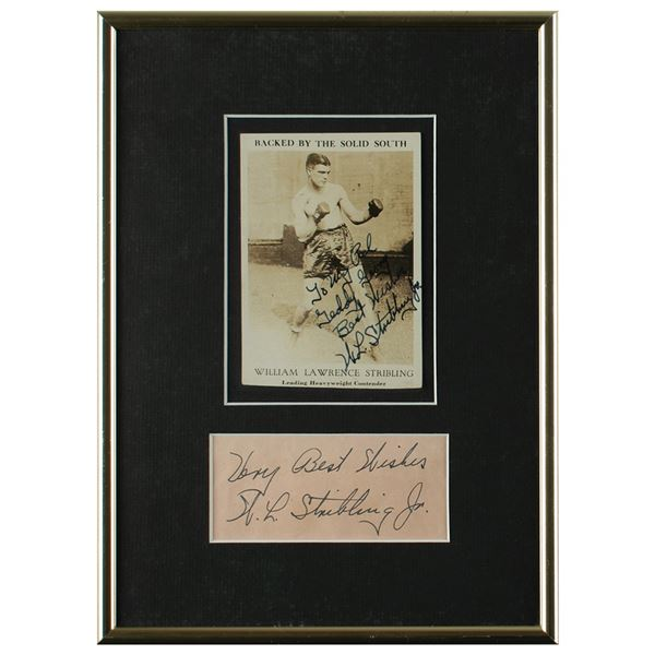 Young Stribling Signature and Signed Photograph