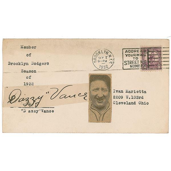 Dazzy Vance Signature