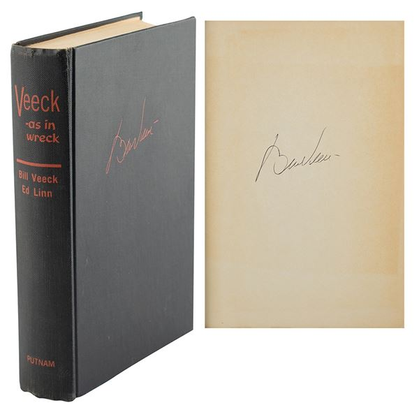 Bill Veeck Signed Book