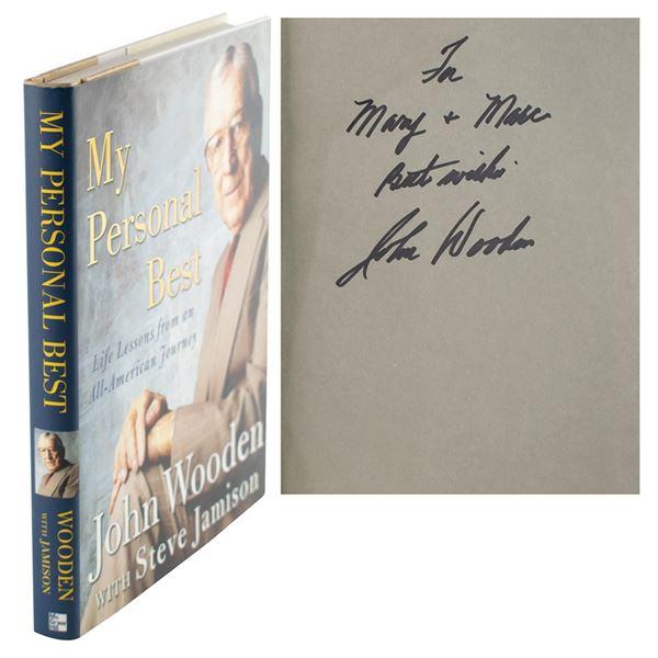 John Wooden (6) Signed Items