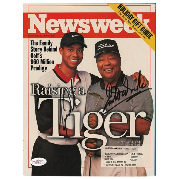 Tiger Woods Signed Magazine Cover