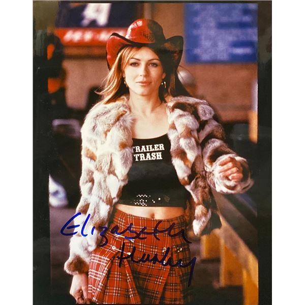 Serving Sarah Elizabeth Hurley Signed Movie Photo