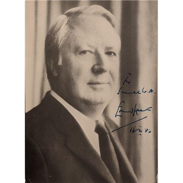 Edward Heath Signed Photo