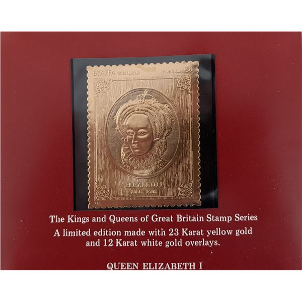 The Kings and Queens of Great Britain Stamp Series - Queen Elizabeth I
