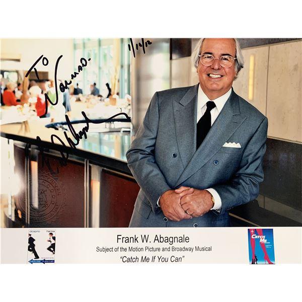 Frank W Abagnale signed photo
