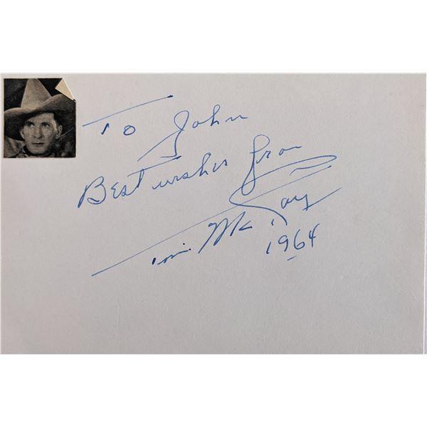 Tim McCoy Signature Cut