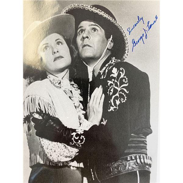 George J. Lewis signed photo