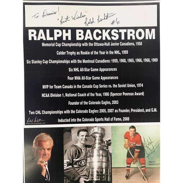 Ralph Backstrom signed photo