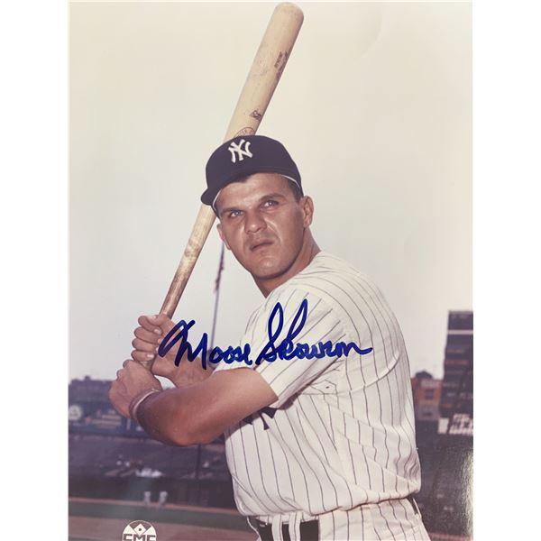 NY Yankees Moose Skowron signed photo