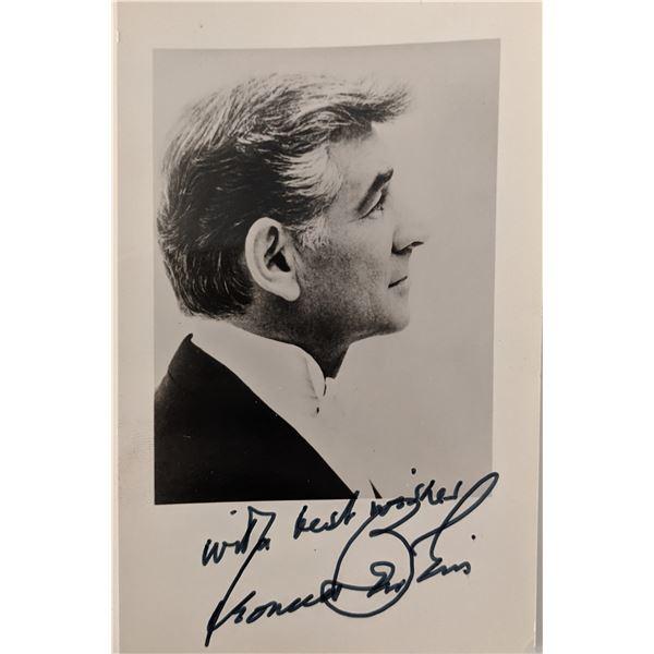 Leonard Bernstein Signed Photo