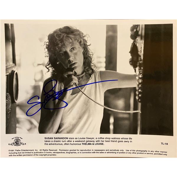 Thelma & Louise Susan Sarandon signed movie photo