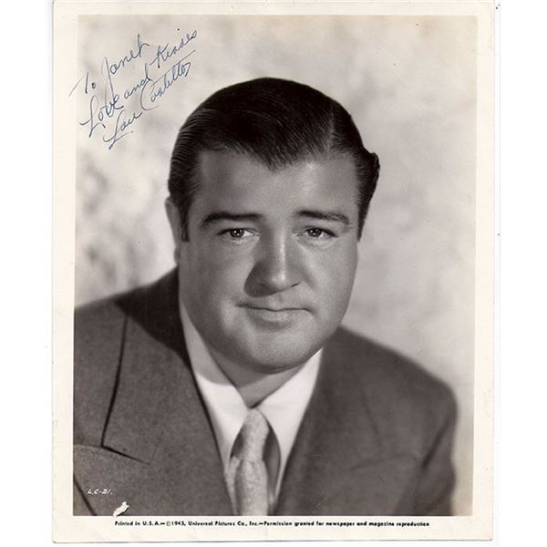 Lou Costello signed Inscribed photograph