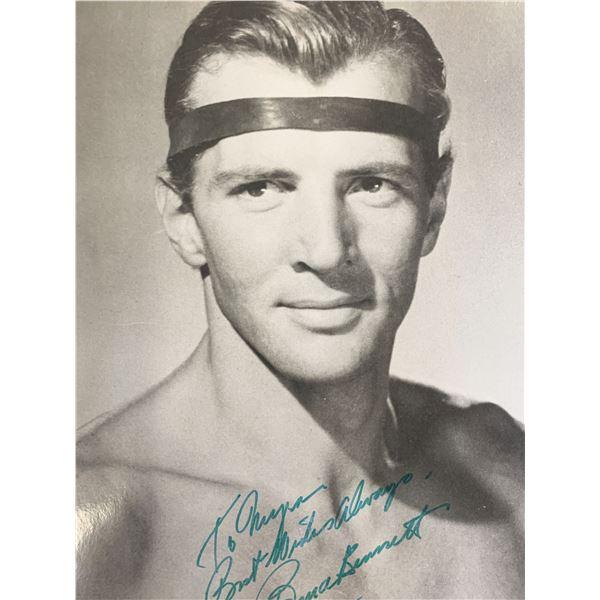Bruce Bennett signed photo