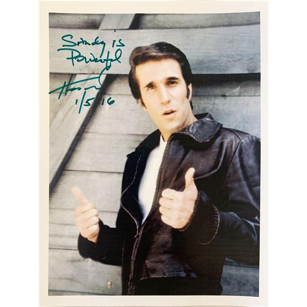 Happy Days Henry Winkler signed photo