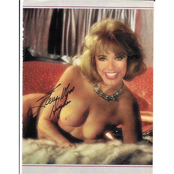 Terry Moore Hughes signed Playboy Magazine page