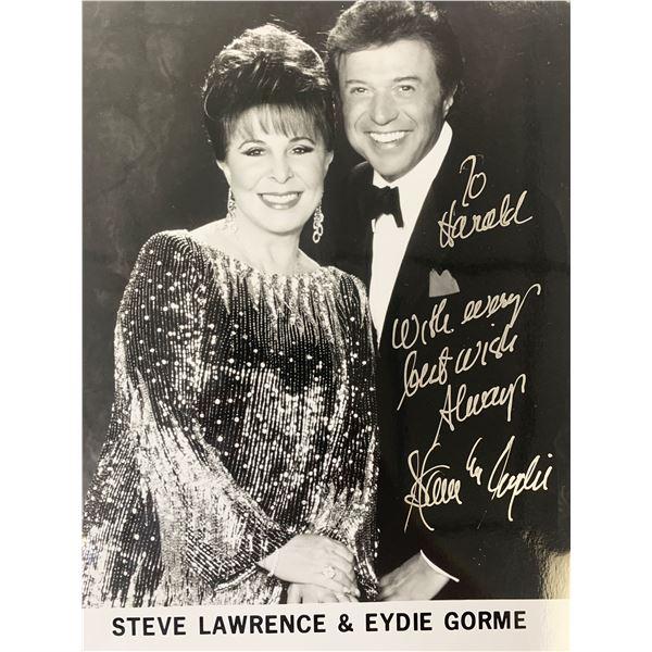 Steve Lawrence & Eydie Gorme signed photo