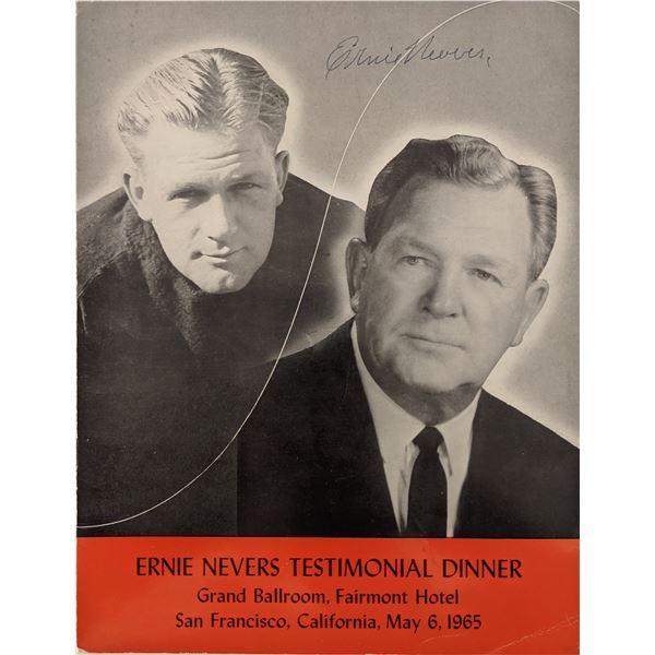 Ernie Nevers Signed Photo