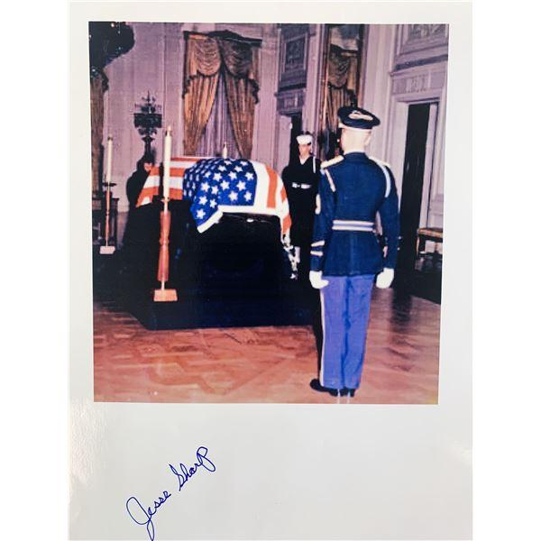 Jesse Sharp signed JFK Honor Guard photo
