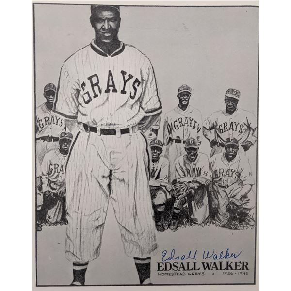 Edsall Walker Homestead Grays Signed Photo