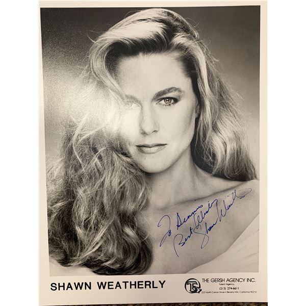 Shawn Weatherly signed photo