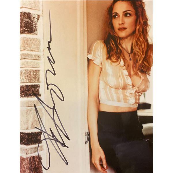 Madonna signed photo