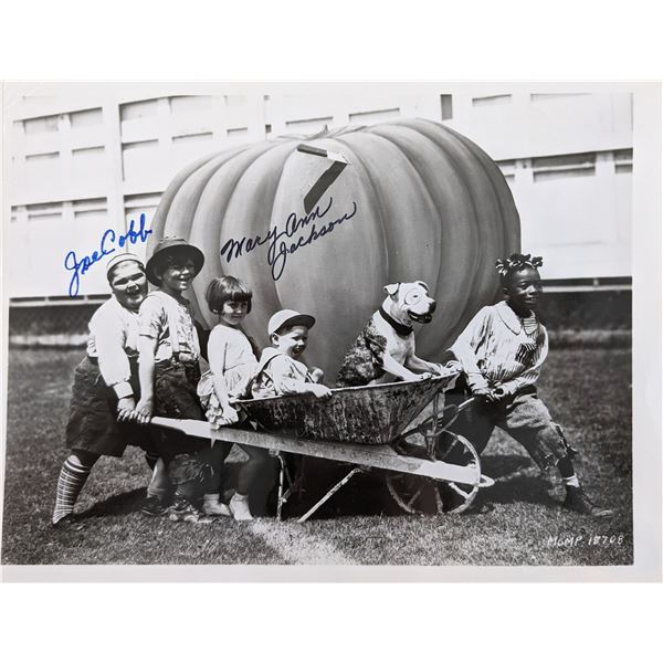 Little Rascals Joe Cobb and Mary Ann Jackson Signed Photo