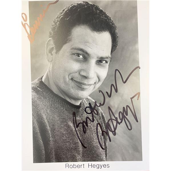 Robert Hegyes signed photo