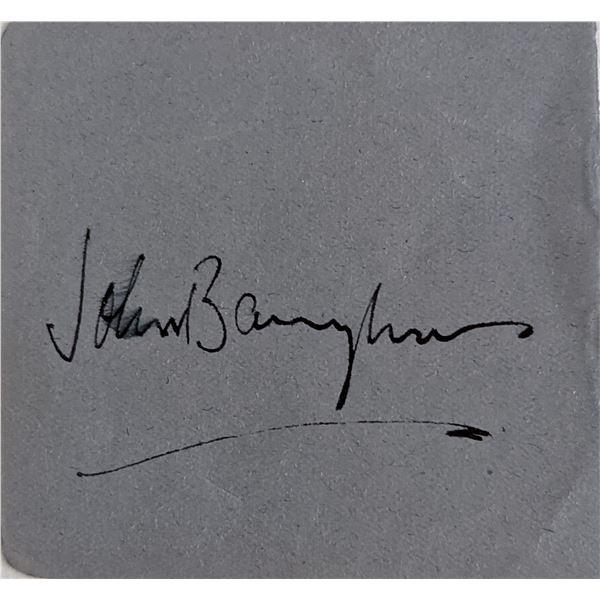 John Barrymore Signature Cut