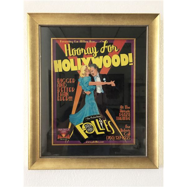 The Fabulous Follies Hooray For Hollywood unsigned poster