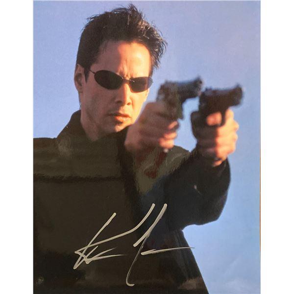 The Matrix Keanu Reeves signed movie photo