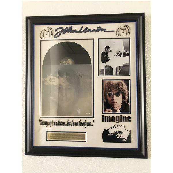 John Lennon Imagine signed album collage.