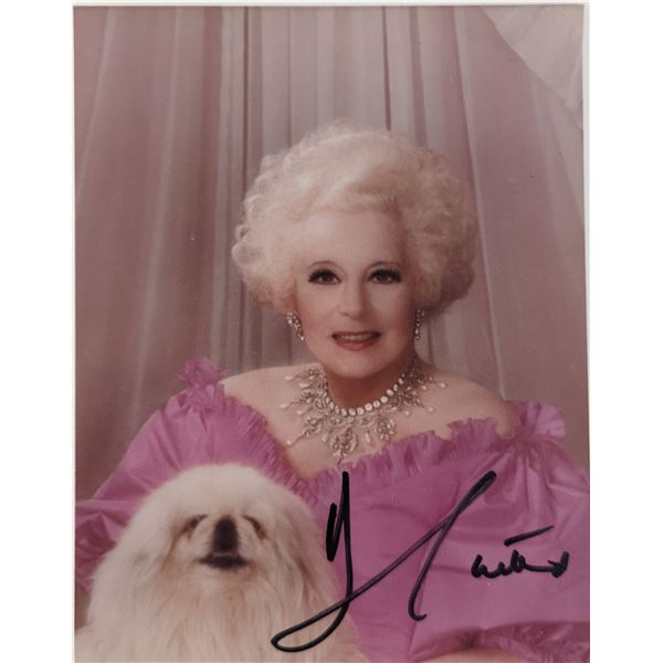 Barbara Cartland Signed Photo