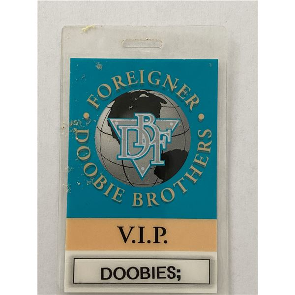 Foreigner - Doobie Brothers Backstage Pass