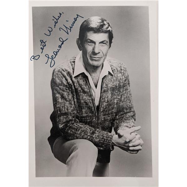 Leonard Nimoy Signed Photo