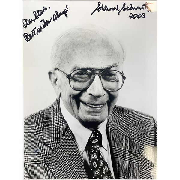 TV Producer Sherwood Schwartz signed photo
