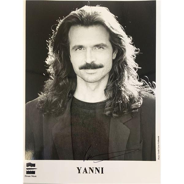 Yanni signed photo