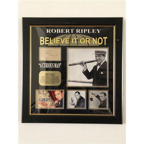Robert Ripley original signature collage
