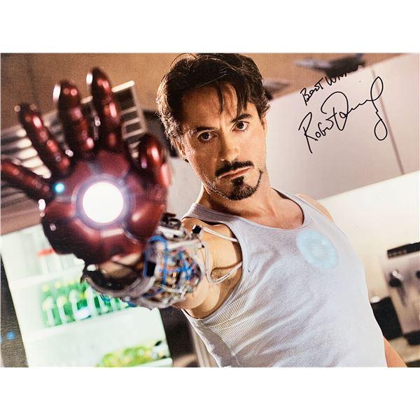 Iron Man Robert Downey Jr. signed movie photo
