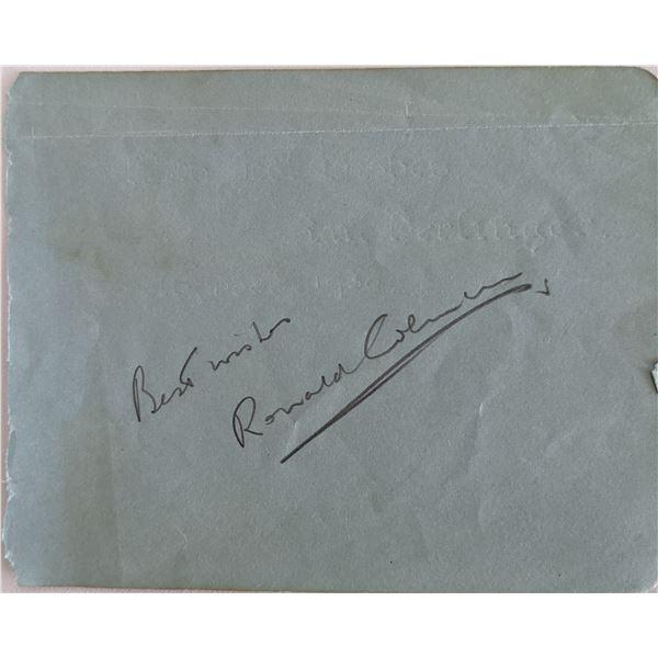 Ronald Coleman Signature Cut