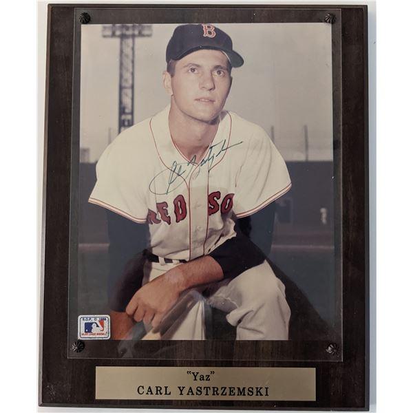 Carl Yastrzemski Signed Photo Plaque