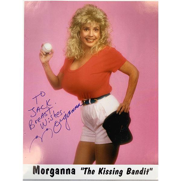 Morganna The Kissing Bandit signed photo