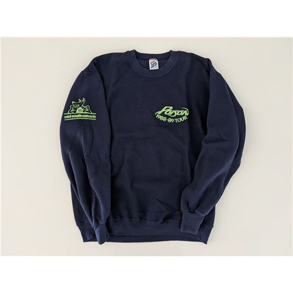 Poison 1988-89 Open Up And Say Ahh Tour Crew Sweatshirt Size XL Memphis