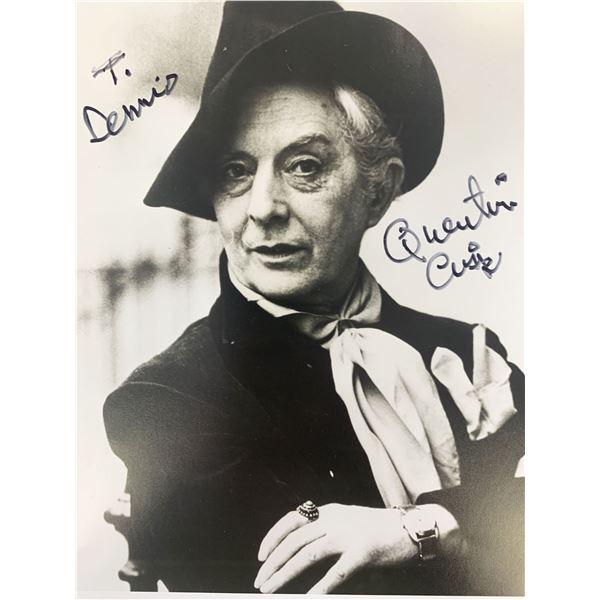 Quentin Crisp signed photo
