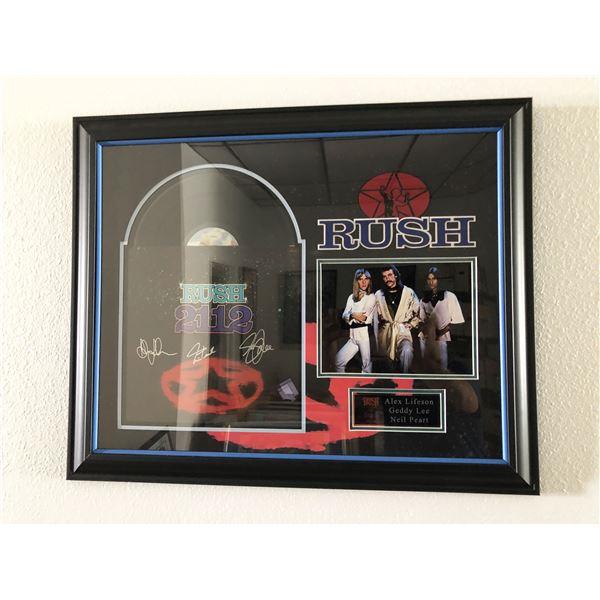 Rush 2112 signed album collage