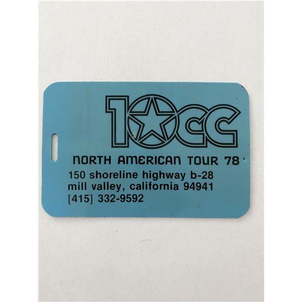 10cc North American Tour '78 Luggage tag