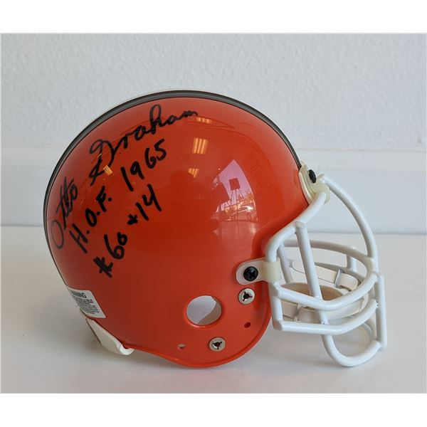 Otto Graham signed mini helmet