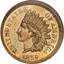 1859 P1C Indian Cent, Judd-227, Pollock-271, Low
